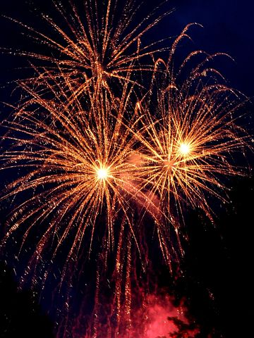 Groot vuurwerk viering in december